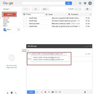 Your email in Gmail